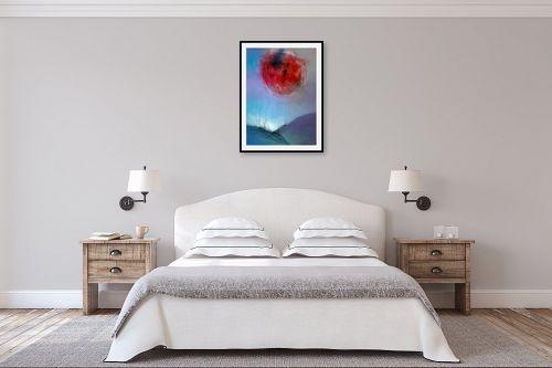 תמונה לחדר שינה - גורדון - ירח אדום - מק''ט: 319435