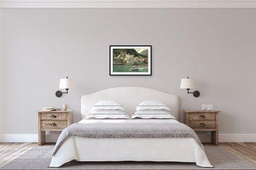 תמונה לחדר שינה - אורי ברוך - אמאלפי - מק''ט: 319609