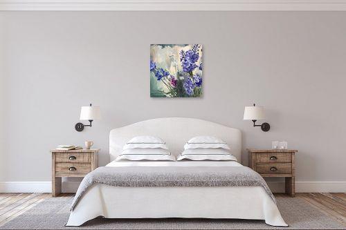 תמונה לחדר שינה - אסתר טל - פריחה בסגול - מק''ט: 323611