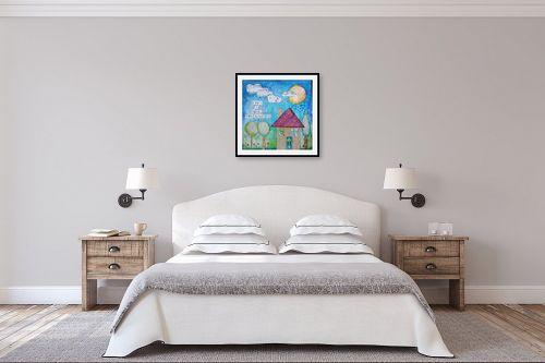 תמונה לחדר שינה - חני שפר - בית בלב - מק''ט: 325425
