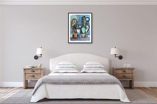 תמונה לחדר שינה - חני שפר - קקטוסים - מק''ט: 325522