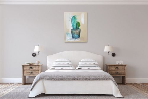 תמונה לחדר שינה - חני שפר - קקטוס - מק''ט: 325556