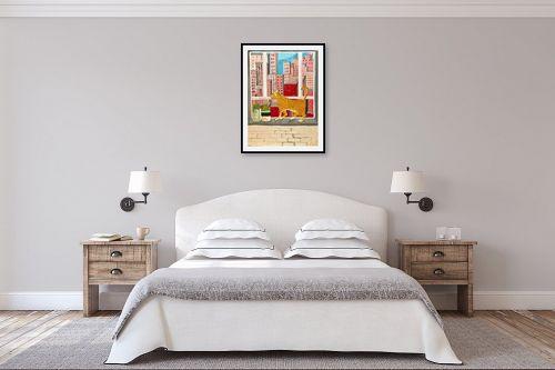 תמונה לחדר שינה - MMB Art Studio - Concrete Jungle   - מק''ט: 325652