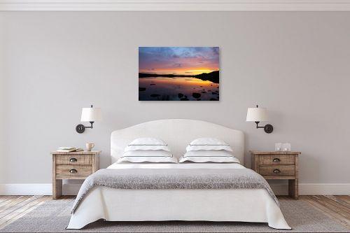 תמונה לחדר שינה - גל מאירי - שקיעה אדומה - מק''ט: 326978
