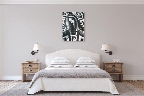 תמונה לחדר שינה - אילה ארויו - משחקי שחור לבן - מק''ט: 328759