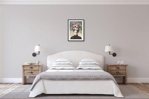 תמונה לחדר שינה - בתיה שגיא - פרפרים בראש - מק''ט: 328887