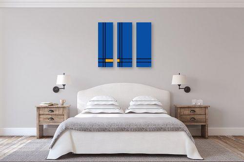 תמונה לחדר שינה - אתי דגוביץ' - כחול צהוב - מק''ט: 329329