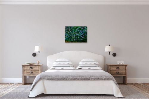 תמונה לחדר שינה - אסתר חן-ברזילי - שיח פרחים - מק''ט: 329628
