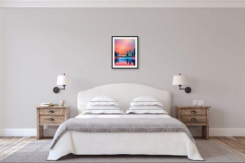 תמונה לחדר שינה - Artpicked - איילים בחלום - מק''ט: 329679