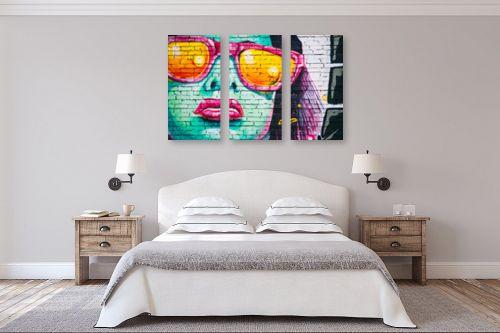 תמונה לחדר שינה - Artpicked - גרפיטי - מק''ט: 329725