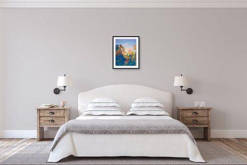 תמונה לחדר שינה - גורדון - בוקר כחול - מק''ט: 329780