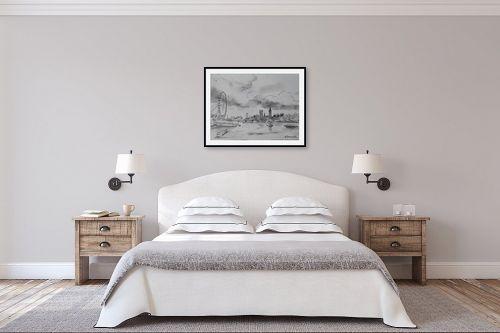 תמונה לחדר שינה - נטליה ברברניק - נוף של התמזה - מק''ט: 330481