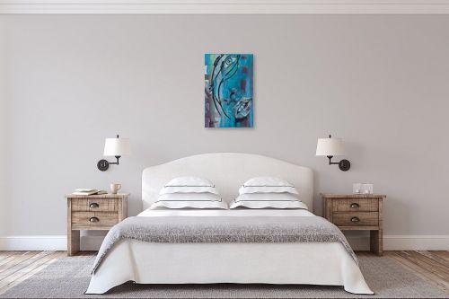 תמונה לחדר שינה - אהובה מגן - כחול - מק''ט: 330908