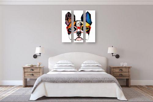 תמונה לחדר שינה - Artpicked - בולדוג ממושקף - מק''ט: 331097