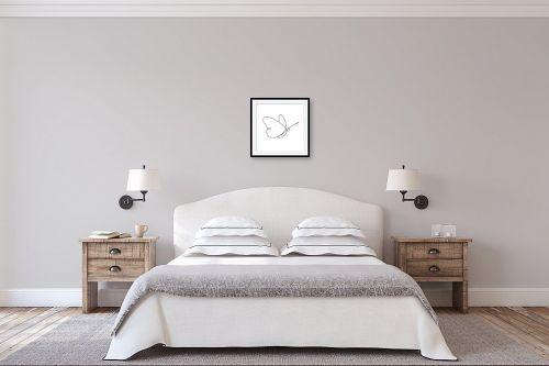 תמונה לחדר שינה - Artpicked - פרפר בקו אחד - מק''ט: 331099