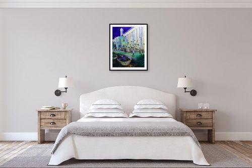 תמונה לחדר שינה - שמואל מושניק - מערת המכפלה ביום העצמאות - מק''ט: 331325