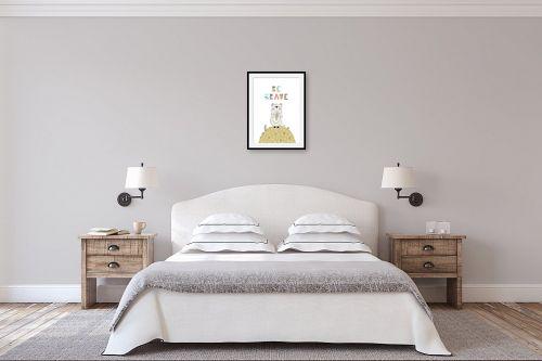 תמונה לחדר שינה - Artpicked - Be brave - מק''ט: 331746