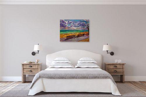 תמונה לחדר שינה - שמואל מושניק - חורף בים המלח - מק''ט: 331747