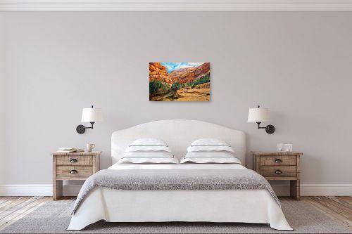 תמונה לחדר שינה - שמואל מושניק - אביב בנחל פרת - מק''ט: 331815
