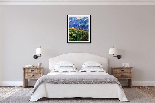 תמונה לחדר שינה - שמואל מושניק - הר חברון בסוף החורף - מק''ט: 332076