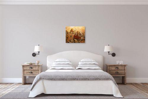 תמונה לחדר שינה - שמואל מושניק - החורבה בראשית המאה ה-20 - מק''ט: 332094
