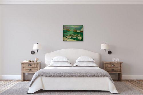 תמונה לחדר שינה - אסתר חן-ברזילי - מעגן סירות - מק''ט: 332311