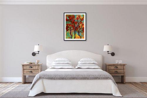 תמונה לחדר שינה - אסתר חן-ברזילי - תפרחת אדומה - מק''ט: 332313