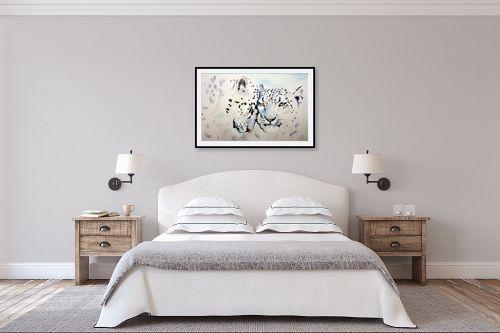 תמונה לחדר שינה - Artpicked - נמרים לבנים - מק''ט: 333622