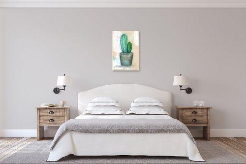 תמונה לחדר שינה - חני שפר - קקטוס - מק''ט: 334125