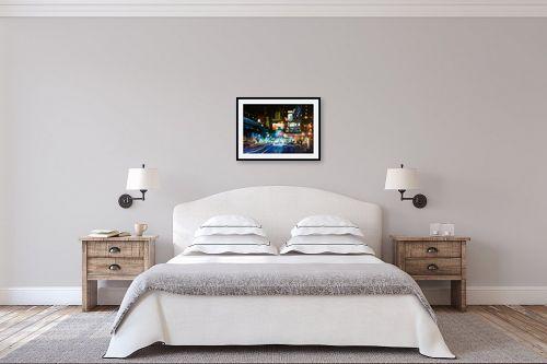 תמונה לחדר שינה - Artpicked - לילה עירוני - מק''ט: 334692