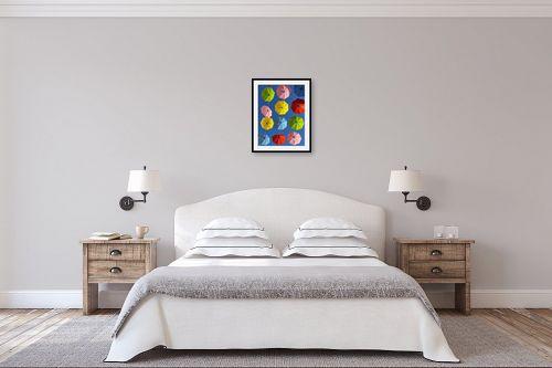 תמונה לחדר שינה - מתן הירש - מטריות צבעוניות בירושלים - מק''ט: 335584