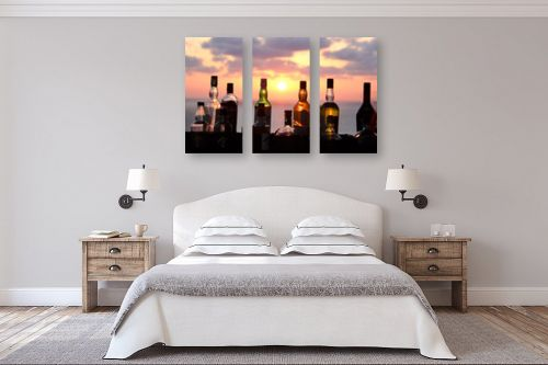 תמונה לחדר שינה - מתן הירש - על הבר בשקיעה - מק''ט: 335611