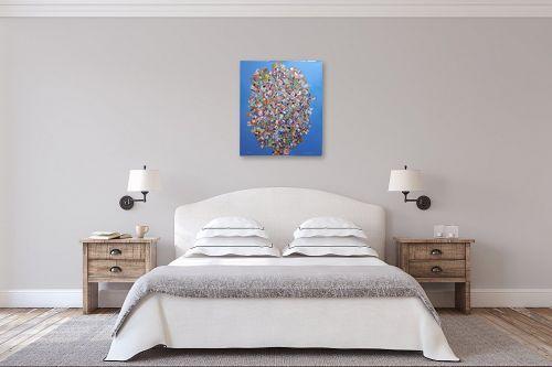 תמונה לחדר שינה - חיים מחט - פרחים קוביסטים - מק''ט: 336569