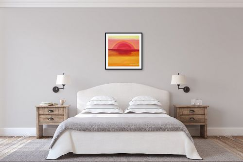 תמונה לחדר שינה - ורד אופיר - שקיעה - מק''ט: 41404