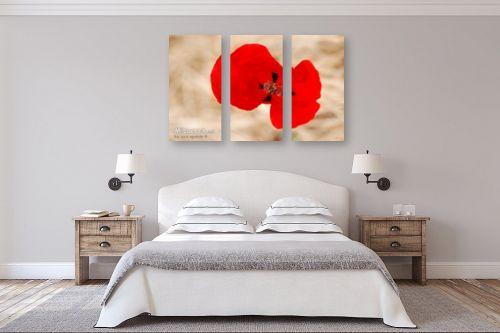תמונה לחדר שינה - איה אפשטיין - פרח הפרג - מק''ט: 51140