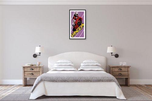 תמונה לחדר שינה - חנן אביסף - Biker pink - מק''ט: 51789