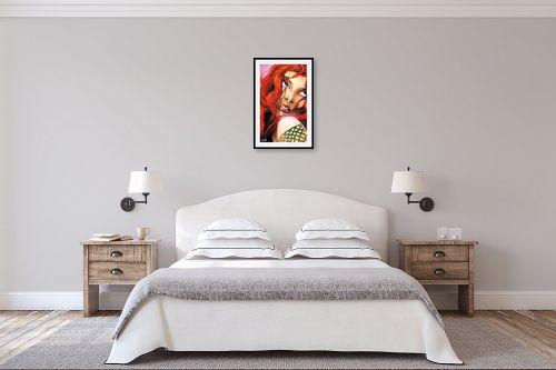 תמונה לחדר שינה - חנן אביסף - אישה עם שיער אדמוני - מק''ט: 52213