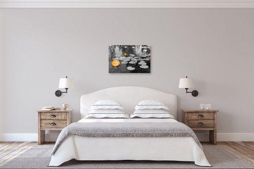 תמונה לחדר שינה - אלי נגר - פרח ודג - מק''ט: 57346