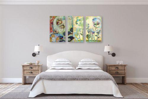 תמונה לחדר שינה - נעמי פוקס משעול - ציפור תכולת כנף - מק''ט: 78491