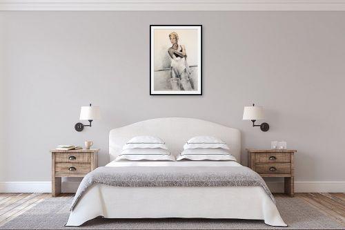 תמונה לחדר שינה - דוד סלע - רקדנית בסטודיו - מק''ט: 96674