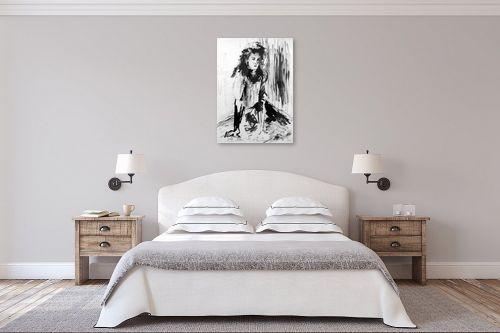תמונה לחדר שינה - דוד סלע - דיו שחור - מק''ט: 96676