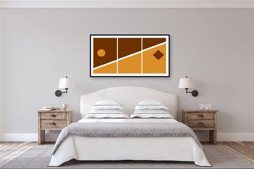תמונה לחדר שינה - אתי דגוביץ' - דגם גאומטרי 3 - מק''ט: 99067