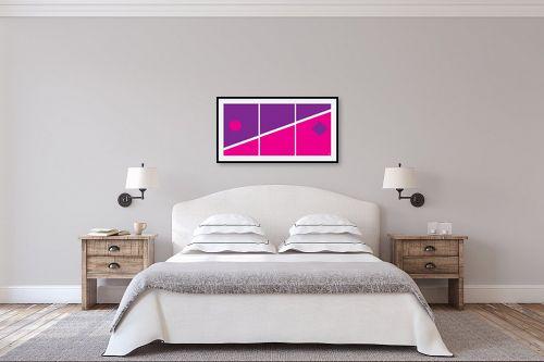 תמונה לחדר שינה - אתי דגוביץ' - דגם גאומטרי 4 - מק''ט: 99068