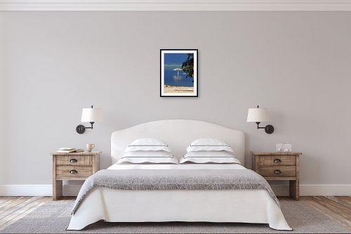 תמונה לחדר שינה - ארי בלטינשטר - שמשייה במים - מק''ט: 99871
