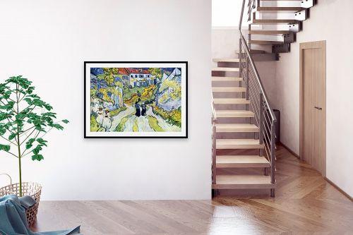 תמונה לבית - וינסנט ואן גוך - מדרגות באובר - מק''ט: 115378