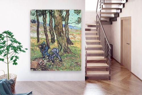 תמונה לבית - וינסנט ואן גוך - two diggers among trees - מק''ט: 115568