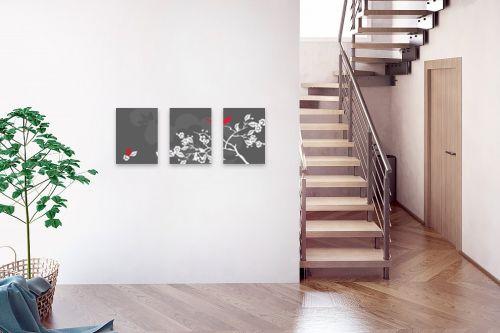 תמונה לבית - נעמי עיצובים - ציפור אודם - מק''ט: 159899