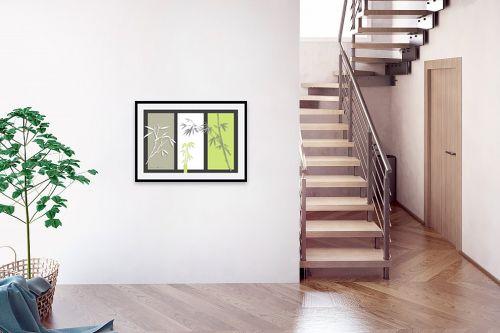 תמונה לבית - נעמי עיצובים - במבוק על אפור - מק''ט: 160920