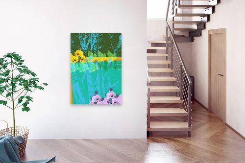 תמונה לבית - רוזה לשצ'ינסקי - עלים ופרחים - מק''ט: 203780