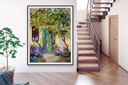 תמונה לבית - רוחלה פליישר - אופניים בחצר - מק''ט: 207259